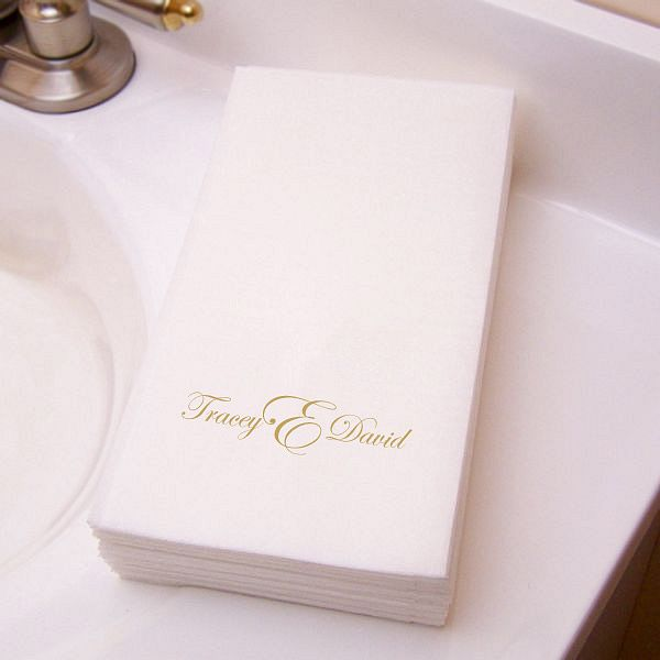 Custom Printed Premium Masslinn Disposable Guest Towels