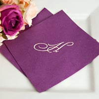 Personalized lunch napkins for weddings