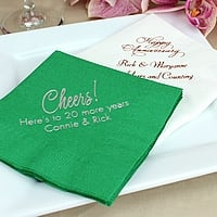 Design your own wedding anniversary cocktail napkins