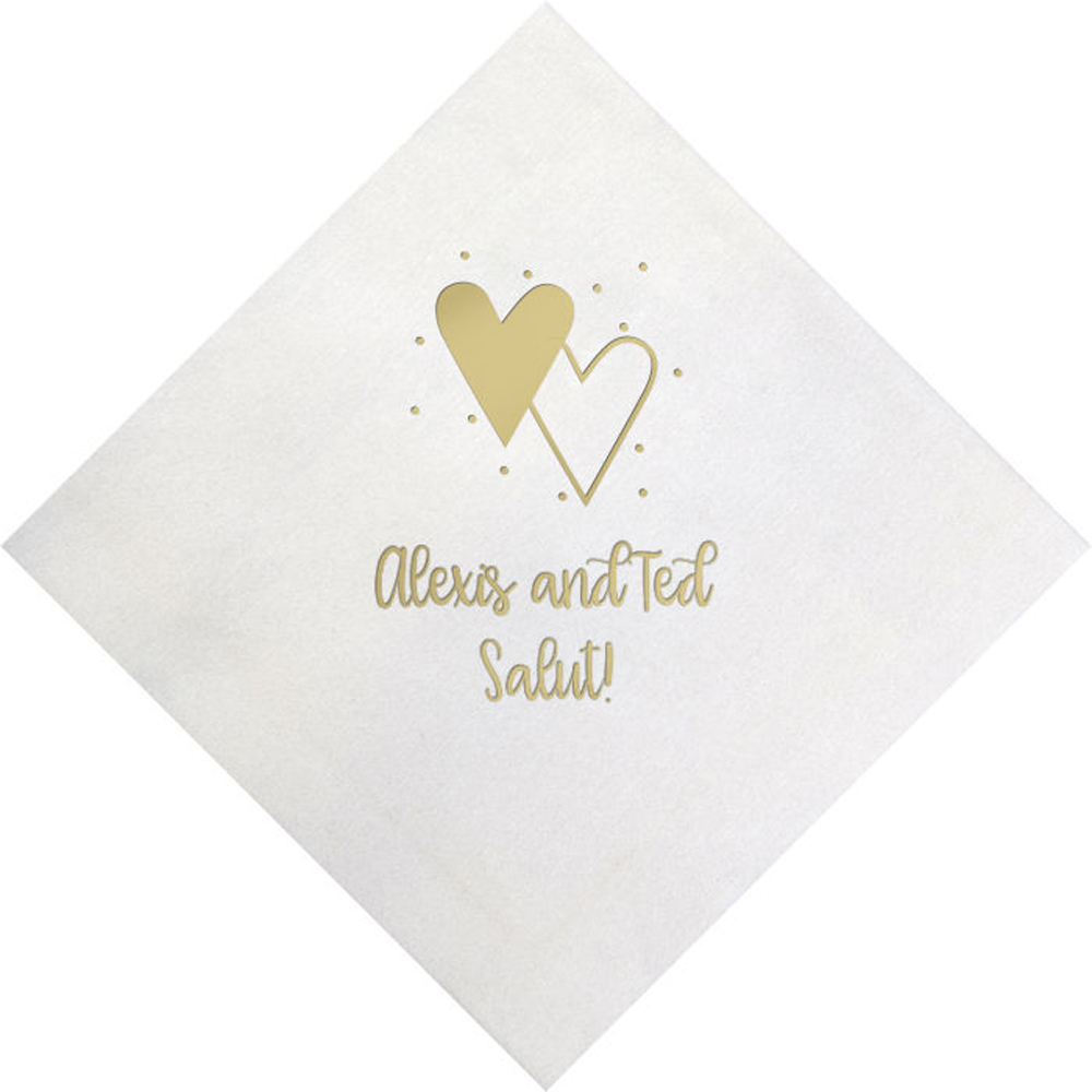 Let/'s Fiesta Like There/'s No Manana White w Metallic Gold Foil Napkins Printed Beverage Cocktail Bar Fun SHIPS in 24 HOURS or less! 50