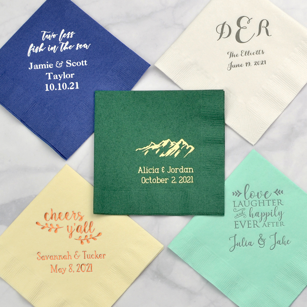 3-Ply paper cocktail napkin samples