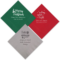 Personalized Christmas party napkins
