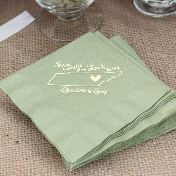 Submit Your Own Artwork Custom Printed Cocktail Napkins