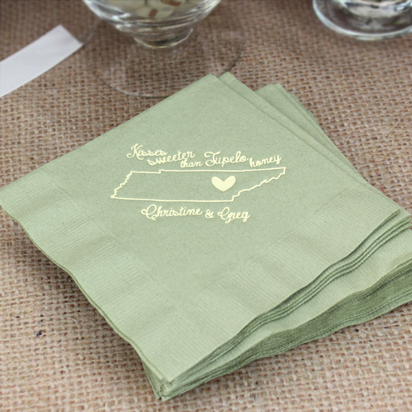 Submit Your Own Artwork Custom Printed Cocktail Napkins Set Of 50