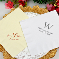 Personalized wedding dinner napkins
