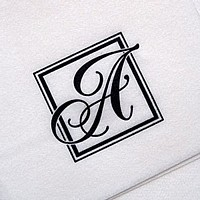 Majestic Initial monogrammed cocktail napkin printed with initial A