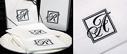 Majestic Initial Monogrammed Napkin Gift Sets