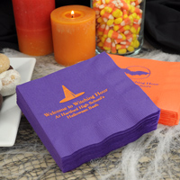 Personalized Halloween party napkins
