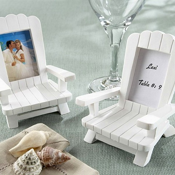 Wedding Place Card Holder Ideas: 4 Pc. Adirondack Chair Place Card Photo Frame Favors Set