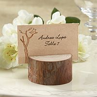 Rustic Real-Wood Stump Place Card Holders