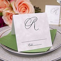 Personalized 3x3 Square Place Cards available in assorted colors and styles