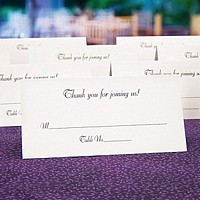 Personalized xtra large jumbo tent style place cards in assorted colors