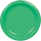 Green plastic dessert and dinner plate color