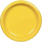 Yellow plastic dessert and dinner plate color