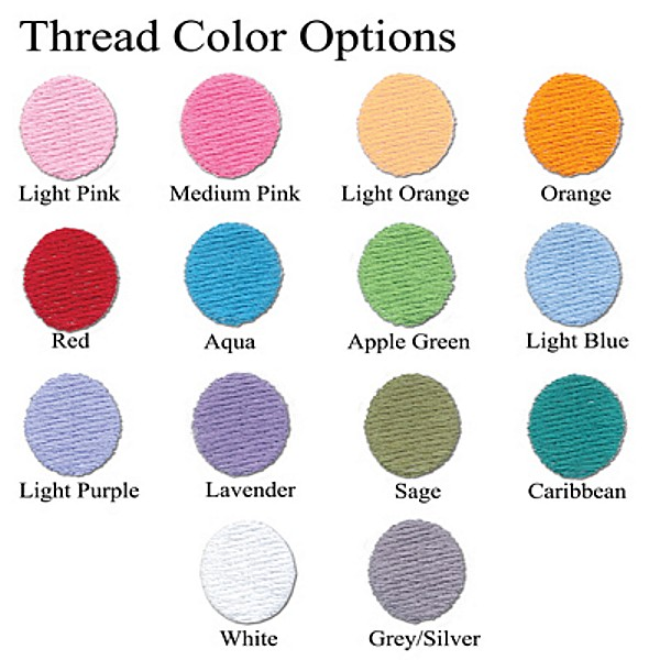 Available thread embroidery thread options