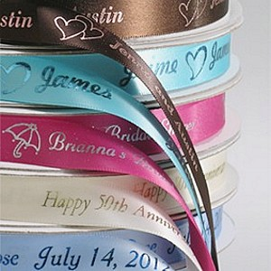 5/8 Inch wide premium bridal satin ribbon in assorted colors