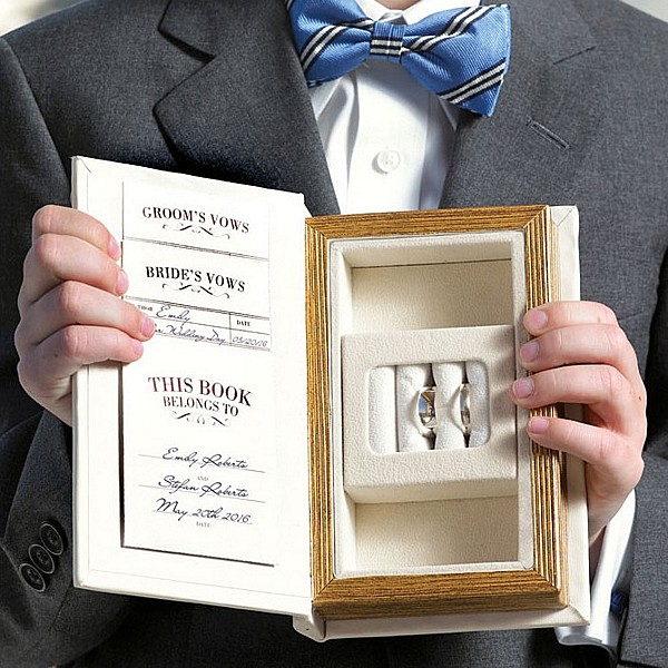 a promise made vintage inspired wedding ring book box