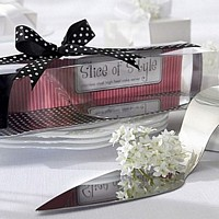 Slice of Style high heel shoe stainless steel cake server set