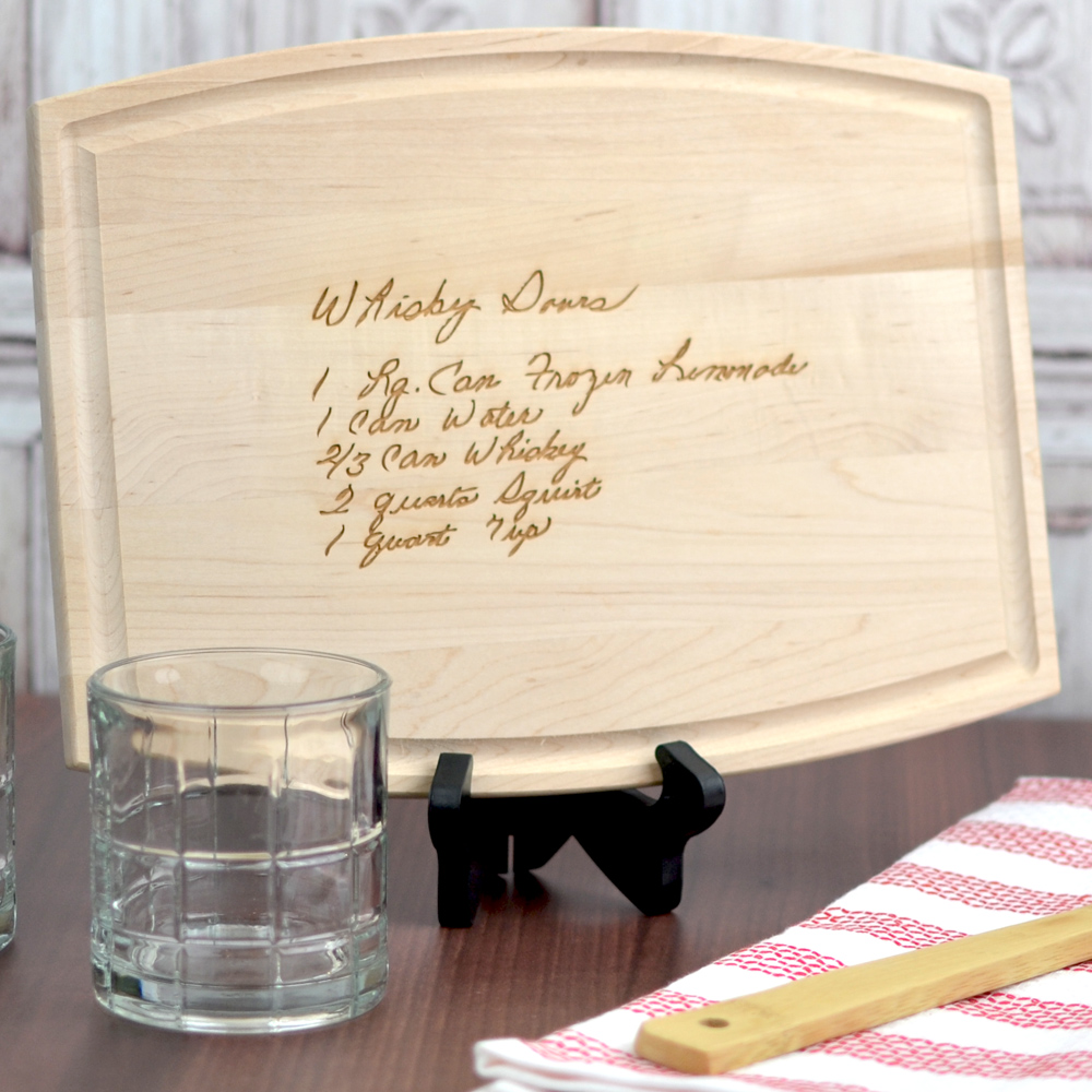 Personalized 9 x 12 hardwood family recipe cutting board gift