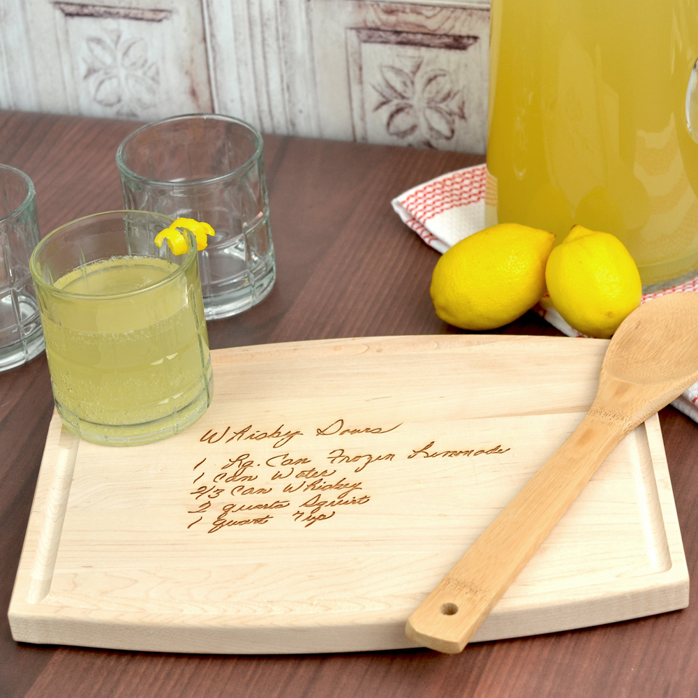 Maple 9 x 12 personalized family recipe cutting board