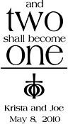 Ephesians 'Two Shall Become One' design