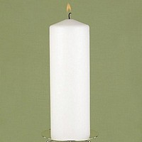 9 Inch White pillar unity candle