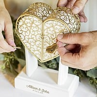 Personalized wedding vows memory box