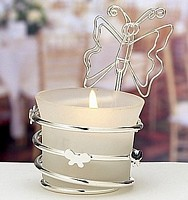 Butterfly themed votive candle holder favors is assorted colors and styles