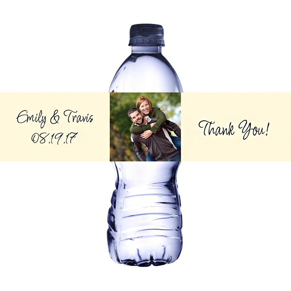 Design Your Own Photo Waterproof Water Bottle Labels