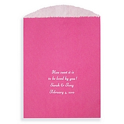 Raspberry red candy favor bag color
