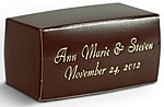 brown 2 x 1 one-piece mini favor box