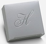 silver 2 x 2 one-piece favor box