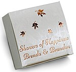 white marble 2 x 2 one-piece favor box
