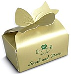 Gold lustre bow box