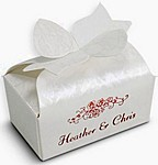 White Marble bow box