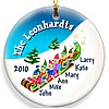 Elves Family Christmas ornament design