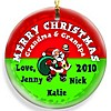 Santa Red Christmas ornament design