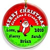 Santa Red Round Christmas ornament design