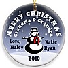 Snowman Christmas ornament design