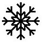 Snowflake Christmas ornament design