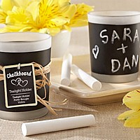 Chalkboard Votive Candles