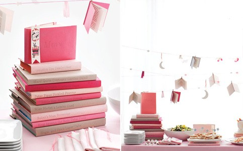 Book Themed Baby Shower from Martha Stewart