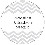 Chevron Favor Tag Design
