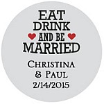Eat Drink Married Favor Tag Design