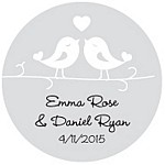 Love Birds Favor Tag Design