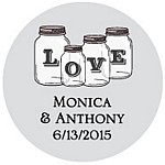 Mason Jars Favor Tag Design