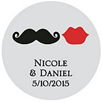 Mustache and Lips Favor Tag Design