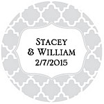 Quatrefoil Favor Tag Design