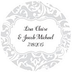 Swirl Favor Tag Design
