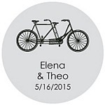 Tandem Bike Favor Tag Design
